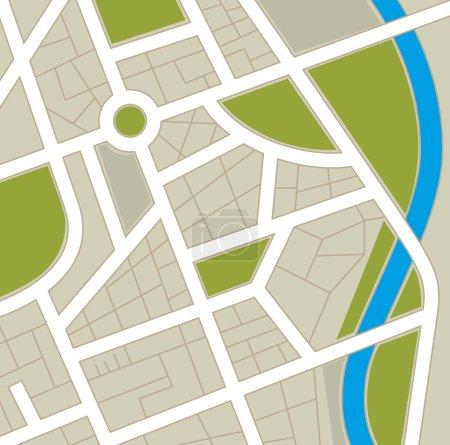 Illustration for GPS map design, vector illustration eps 10. - Royalty Free Image