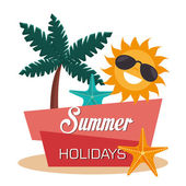 Summer vacations design vector illustration eps 10