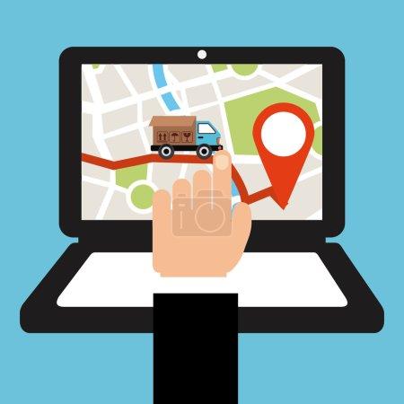 Illustration pour Conception de services de livraison, illustration vectorielle illustration eps10 - image libre de droit