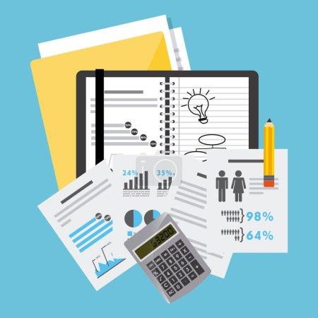 Illustration pour Business planning design, illustration vectorielle eps10 graphique - image libre de droit