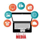 Sociální media entertainment grafický design