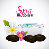Spa relaxation area design vector illustration eps10 graphic