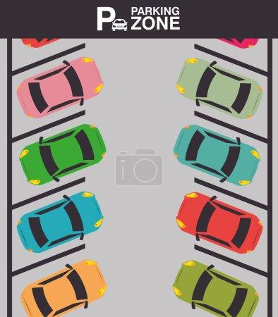 Illustration pour Conception de stationnement ou de zone de parc, illustration vectorielle . - image libre de droit