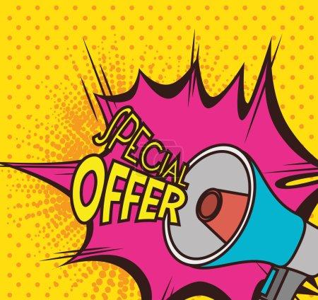 Illustration pour Shopping offres spéciales design, illustration vectorielle eps 10 . - image libre de droit