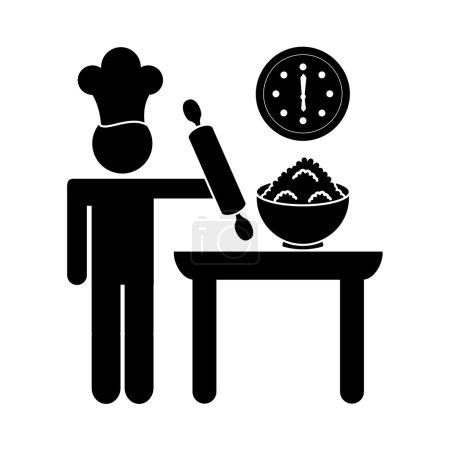 Illustration pour Baker Service design, illustration vectorielle eps10 graphique - image libre de droit
