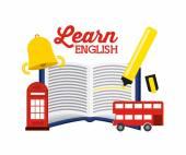 Learn english design vector illustration eps10 graphic