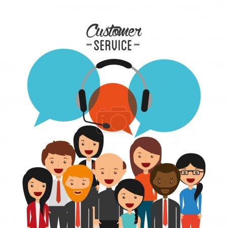 Illustration for Customer service design, vector illustration eps10 graphic - Royalty Free Image
