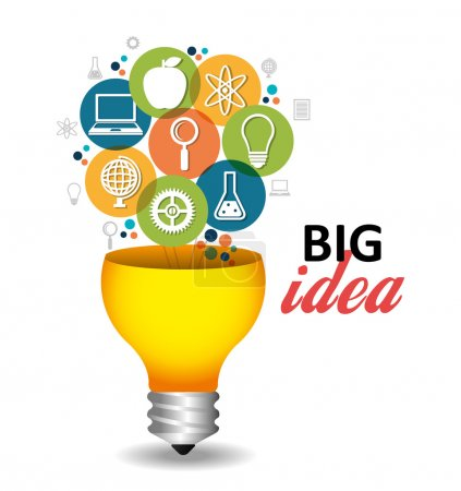 Illustration pour Business big idea graphisme, illustration vectorielle eps10 - image libre de droit