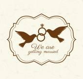 Wedding cute card design vector illustration eps10