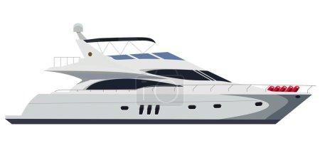 Illustration for Cruising motor yacht on white background - Royalty Free Image