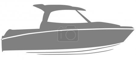 Illustration for Logo yacht club in the form of a boat - Royalty Free Image