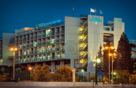 """Beer-Sheva, the hospital complex """"Magpie"""" night."""