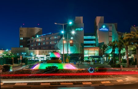 "Beer-Sheva, the central entry to the hospital, ""Magpie"" night."