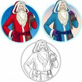 Christmas Characters Father Frost and Pere Noel set