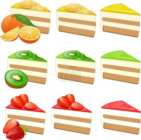 Fruit cakes set