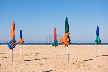 The famous colorful parasols