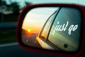 Motivation quote Just go on a Roadtrip picture