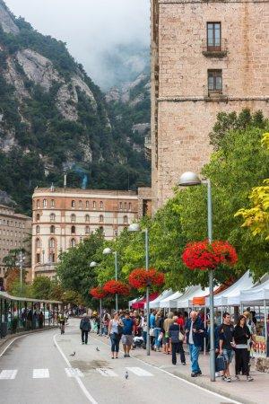 Tourists enjoy visiting Montserrat monastery