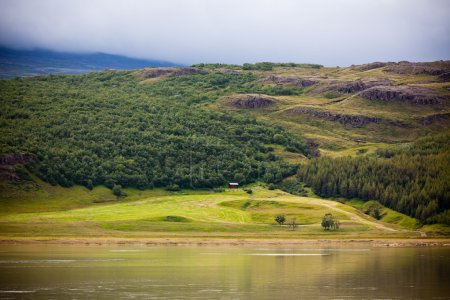Photo for Icelandic Nature Landscape with Mountains and River - Royalty Free Image