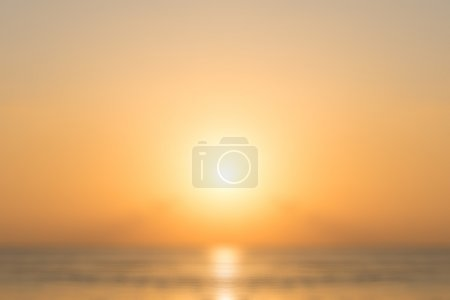 Photo for Defocused tropical sunset background. Blur abstract shot - Royalty Free Image