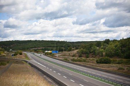 Highway through France