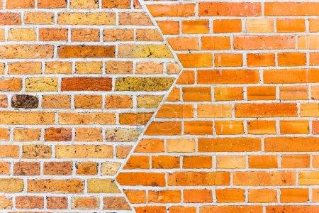Photo pour Mur de brique rouge texture fond. plan horizontal - image libre de droit