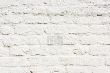 Photo for White Brick Wall Texture Background. Horizontal shot - Royalty Free Image