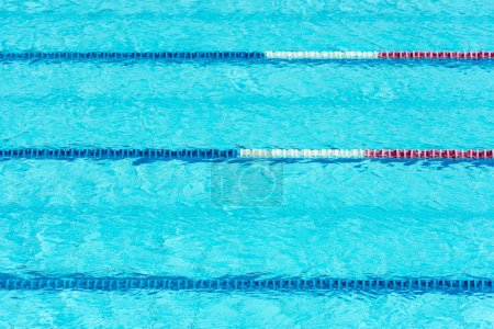 Photo for Clear transparent swimming pool water background. Horizontal shot - Royalty Free Image
