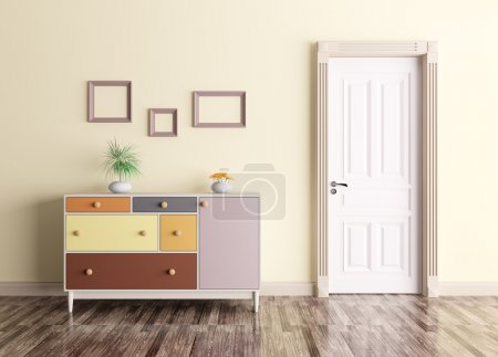 Photo for Classic interior of a room with door and chest of drawers - Royalty Free Image