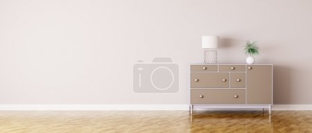 Photo for Interior of a room with chest of drawers panorama - Royalty Free Image