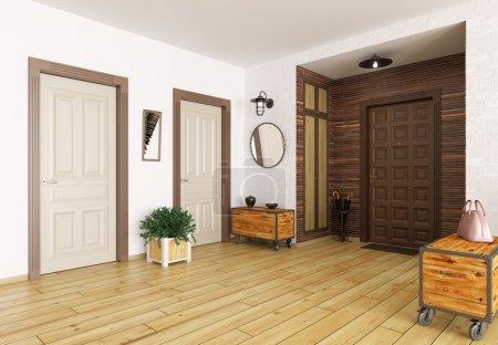 Photo pour Intérieur moderne entrée salle 3d Render - image libre de droit