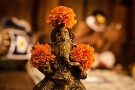 Kathakali intérprete en el virtuoso papel de la pachcha (verde) en Cochin