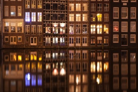 Photo for Amsterdam street at night - Royalty Free Image