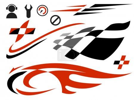 Illustration pour Icônes de vitesse vectorielle - image libre de droit