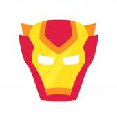 Super hero red mack Superhero mask for face character in flat style Masks of heroic savior or superhero Comic super hero mask vector illustration Super hero photo props Super hero face Spider