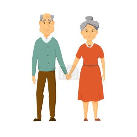 Sad old couple