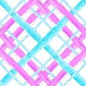 Seamless tartan pattern Watercolor stroke design Vector background