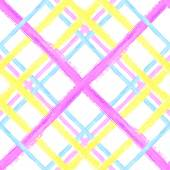 Seamless tartan pattern Watercolor stroke design Vector background