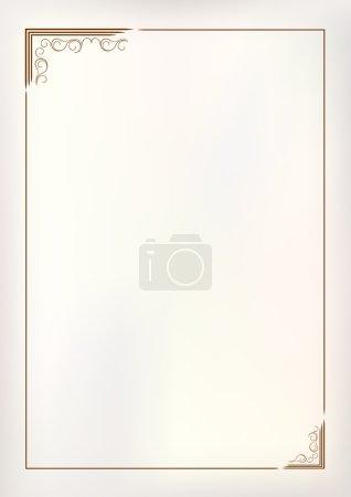 Illustration for Vector vintage border frame - Royalty Free Image