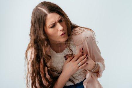 young woman has heartache