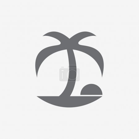 Coconut palm tree icons