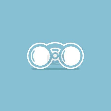 Illustration for Binoculars icon isolated illustration - Royalty Free Image