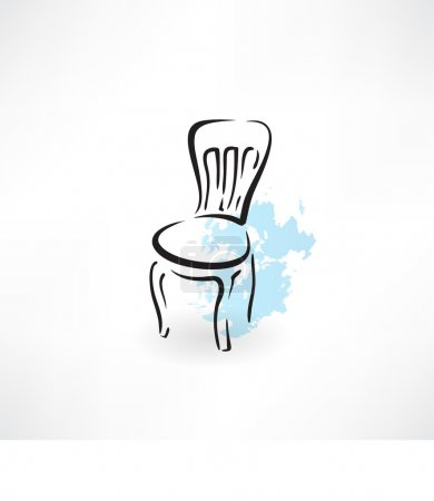 Illustration for Retro chair icon - Royalty Free Image