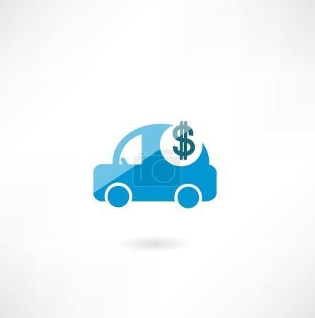 Car with dollar icon