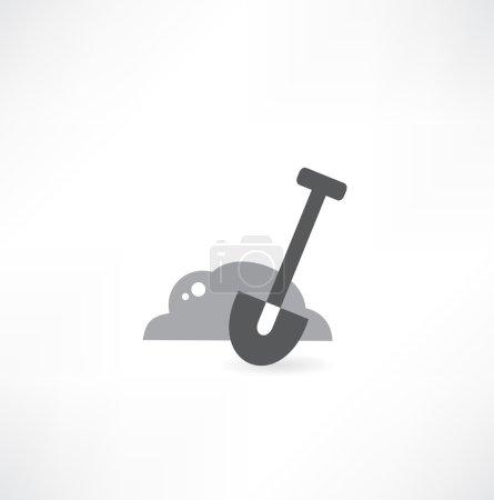 Illustration of isolated shovel