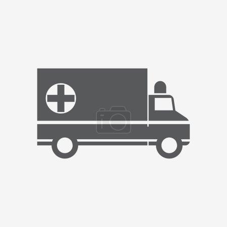 Illustration for Ambulance icon. Vector illustration - Royalty Free Image