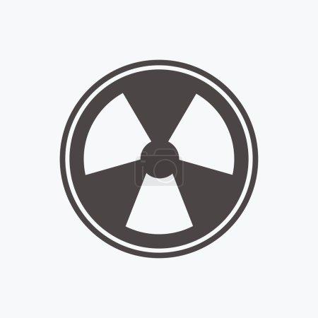 Radiation sign. Vector illustration...