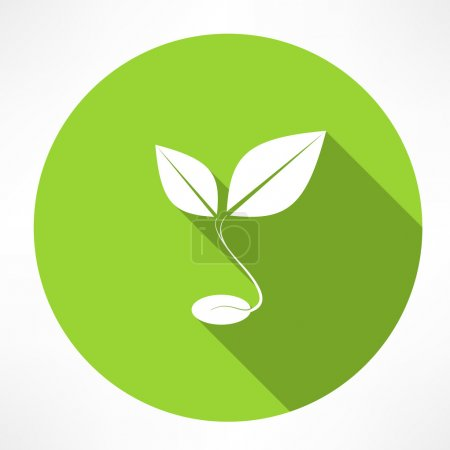 Illustration for Sprout grain icon - Royalty Free Image