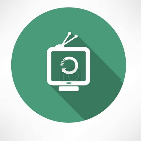 Refresh icon on television