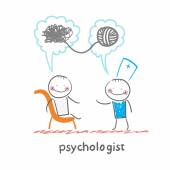 Psychologist says to the patient and solves problems